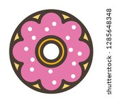 donuts icon. single high... | Shutterstock .eps vector #1285648348