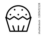 muffin icon. single high... | Shutterstock .eps vector #1285652128