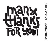 many thanks for you   unique... | Shutterstock .eps vector #1285655188