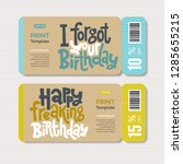 promotional coupon design... | Shutterstock .eps vector #1285655215