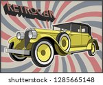 retro car from the 1910s  | Shutterstock .eps vector #1285665148