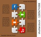 smartphone puzzle color... | Shutterstock .eps vector #1285674388