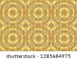 ornamental oriental ornament in ... | Shutterstock . vector #1285684975