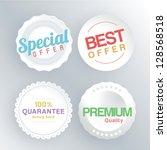 sale labels | Shutterstock .eps vector #128568518
