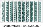 border with flowers  leaves ... | Shutterstock .eps vector #1285686682