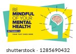 world mental health day. vector ... | Shutterstock .eps vector #1285690432