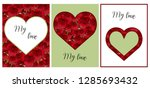 a set of cards with a picture... | Shutterstock .eps vector #1285693432