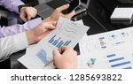 desk in the office with charts  ... | Shutterstock . vector #1285693822