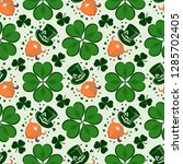 st. patrick's day seamless... | Shutterstock .eps vector #1285702405