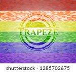 trapeze lgbt colors emblem  | Shutterstock .eps vector #1285702675
