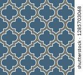 vector moroccan repeat seamless ...   Shutterstock .eps vector #1285703068