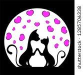romantic meeting of cats vector ... | Shutterstock .eps vector #1285706338