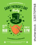 saint patrick party poster... | Shutterstock .eps vector #1285709968