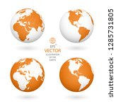 earth illustration. each... | Shutterstock .eps vector #1285731805