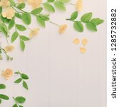 floral pattern with yellow... | Shutterstock . vector #1285732882
