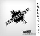tire tracks print texture.... | Shutterstock .eps vector #1285733725
