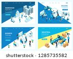 set colorful isometric concept... | Shutterstock .eps vector #1285735582