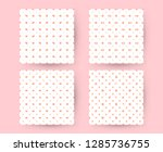 set of valentines day seamless... | Shutterstock .eps vector #1285736755