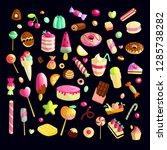 sweet cartoon candy set.... | Shutterstock .eps vector #1285738282