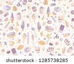 cute seamless pattern with... | Shutterstock .eps vector #1285738285