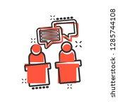politic debate icon in comic... | Shutterstock .eps vector #1285744108