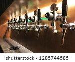 craft beer keg system machine... | Shutterstock . vector #1285744585