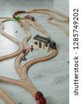 wooden railway for children | Shutterstock . vector #1285749202