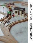wooden railway for children | Shutterstock . vector #1285749205