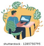 vector cartoon illustration of... | Shutterstock .eps vector #1285750795