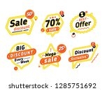 sale tag and discount banner... | Shutterstock .eps vector #1285751692
