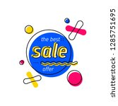 sale tag template. bright... | Shutterstock .eps vector #1285751695