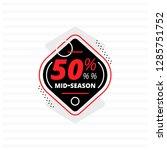design of black banner with 50  ... | Shutterstock .eps vector #1285751752