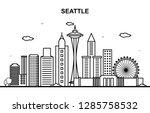seattle city tour cityscape... | Shutterstock .eps vector #1285758532