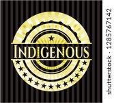 indigenous gold shiny badge | Shutterstock .eps vector #1285767142