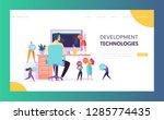 software developer character...   Shutterstock .eps vector #1285774435