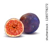 figs low poly. fresh ... | Shutterstock . vector #1285778272
