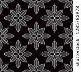 seamless black and white... | Shutterstock .eps vector #1285783978