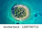 aerial drone top view photo of... | Shutterstock . vector #1285785712
