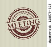 red meeting grunge style stamp | Shutterstock .eps vector #1285794925