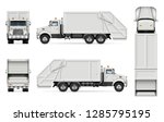 garbage truck vector mockup for ... | Shutterstock .eps vector #1285795195