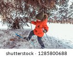 a small child of 3 5 years old  ... | Shutterstock . vector #1285800688