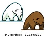 big kodiak bear in cartoon...
