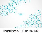 structure molecule and... | Shutterstock .eps vector #1285802482
