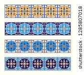 tile border pattern vector... | Shutterstock .eps vector #1285807018