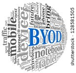 byod   bring your own device... | Shutterstock . vector #128581505