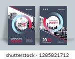corporate book cover design... | Shutterstock .eps vector #1285821712