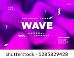 3d distorted wave lines.... | Shutterstock .eps vector #1285829428