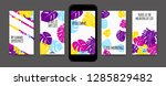 stories template design. tropic ... | Shutterstock .eps vector #1285829482