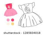 coloring book for children.... | Shutterstock .eps vector #1285834018