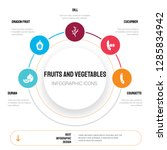 abstract infographics of fruits ... | Shutterstock .eps vector #1285834942